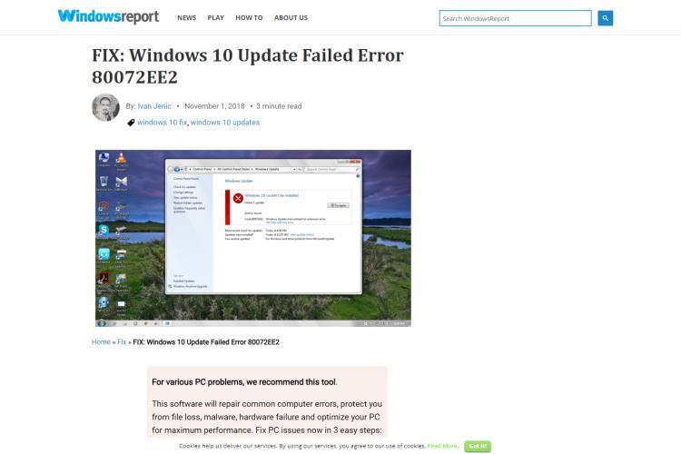 Best Ways to Fix Windows Update Error 80072EE2 in 2019