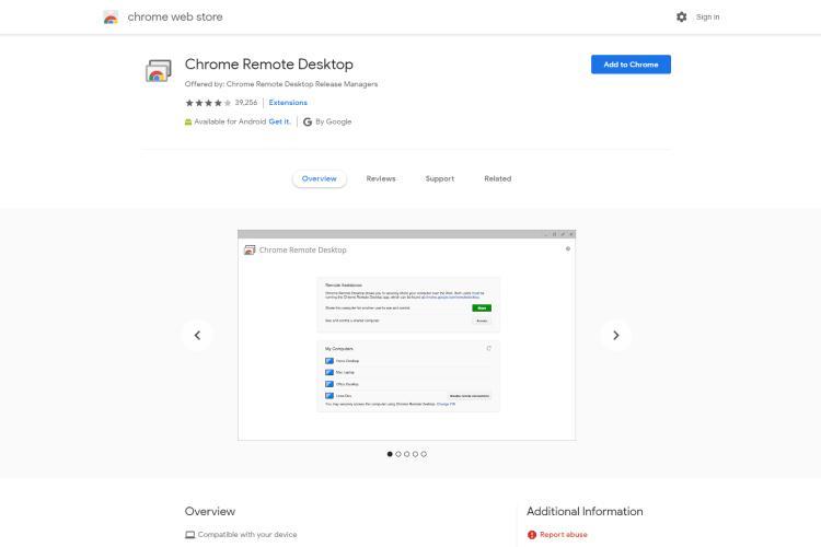 Google Chrome Remote Desktop to runiMessage for a Windows computer